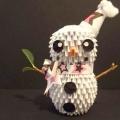 """Готуємося до нового року: орігамі """"сніговик"""""""