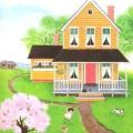 Як намалювати будинок за допомогою олівців, лінійки і акварельних фарб