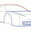 Як намалювати машину: відкриту, спортивну, ваз