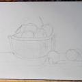 Натюрморт з фруктами: як намалювати поетапно