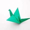 """Як покроково робиться орігамі """"пташка"""""""