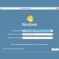 Установник windows 7. Встановлення та перевстановлення windows