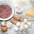 Запіканка картопляна з фаршем, з грибами. Рецепти приготування